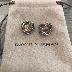 David Yurman Infinity Earrings with Morganite